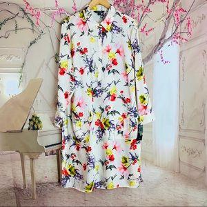 Lauren Ralph Lauren Silky Floral Button Down Dress